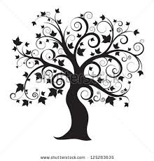 abstract tree isolated on background vector stock vector 125283635