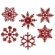 6 assorted 5 glitter snowflake ornament walmart