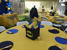 batman centerpieces cake decor