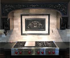 kitchen backsplash medallion great kitchen backsplash metal medallions mozaic insert tiles