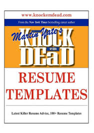 Killer Resume Template Knock Em Dead Resume Templates Plus 110 Resume Templates The