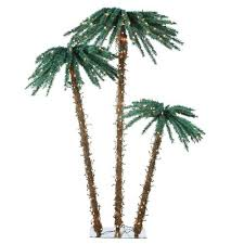 charming artificial pre lit palm tree 70 for with