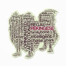 pekingese breed cutout vinyl decal bumper sticker