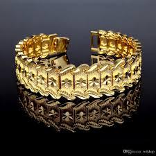 luxury man bracelet images Online cheap 18k gold plated men big punk bracelet luxury fine jpg