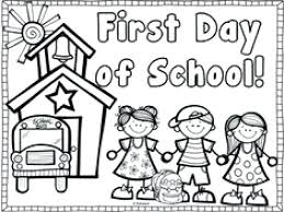 First Day Of School Coloring Page Enchanting First Day Of School Free Coloring