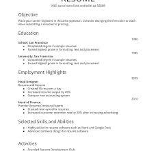 easy basic resume exle free basic resume template easy resume exles exle basic