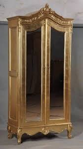 White Vintage Armoire Mirrored Armoire Wardrobe Foter