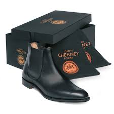 cheaney threadneedle men u0027s black chelsea boot made in england