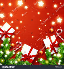 Candy Cane Lights Christmas Greeting Card Gift Box Glowing Stock Vector 537154129