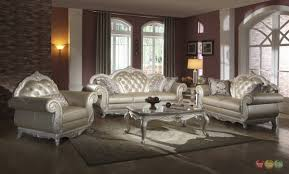 Pictures Of Living Rooms With Leather Chairs Elegant Metallic Pearl Button Tufted Leather Formal Living Room