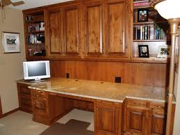 The Custom Home Office Cabinets Design Including Desk And Wall