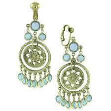 clip on chandelier earrings drops aqua hues clip chandelier earrings 1928 polyvore