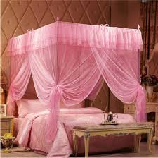 Pink Canopy Bed Buy Pink Bed Frames And Get Free Shipping On Aliexpress Com