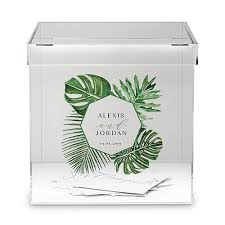 wish box wedding phantom wishing well acrylic box greenery printing