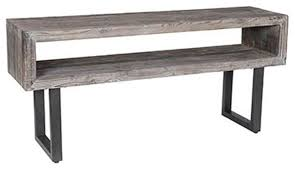 Wood Sofa Table Reclaimed Wood Console Table With Gray Wood Distressed Rustic