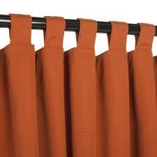 Curtains With Tabs Sunbrella Canvas Rust Outdoor Curtain With Tabs Outdoor Curtains