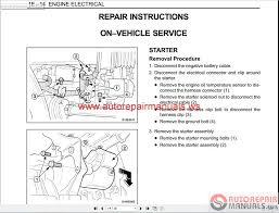 daewoo matiz wiring diagram ssangyong musso m100 200205 service
