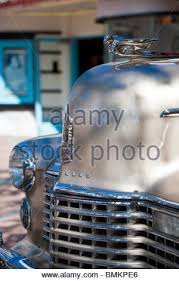 1941 cadillac ornament classic american car stock photo