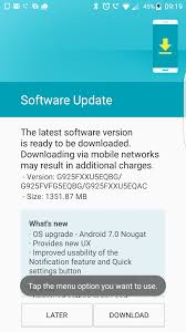galaxy s6 edge nougat update appears be rolling out sammobile