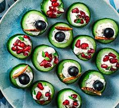 cucumber canapes cucumber blue cheese canapés recipe food