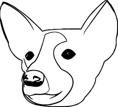 dog head portrait puppy dog coloring page wecoloringpage