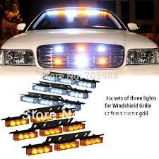 snow plow strobe lights white amber green blue 6x9 led snow plow car boat truck warning