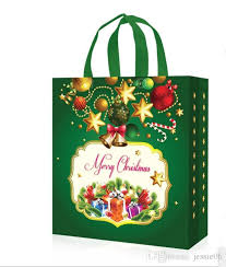 christmas gift bag non woven gift bags reusable christmas gift handbag