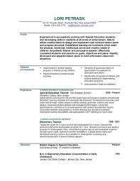 Education Resume Template Free Resume Template For Teachers Gfyork Com