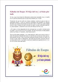 Fichas de prensi³n lectora para primaria Fábulas