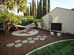 exterior enjoyable kids area with blackboard in backyard design