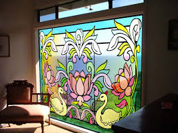 glass design decorative and educative stained glass window clings for