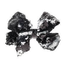 hair bow with hair clip on bow print hair s