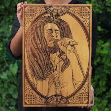 Bob Marley Home Decor Bob Marley Wood Artwork Carved Wood Wall Art Decor King Of