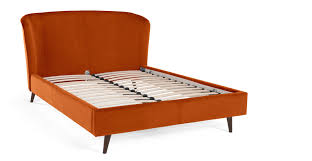 double bed lulu double bed paprika orange velvet made com