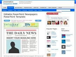 editable powerpoint newspapers powerpoint template primary box