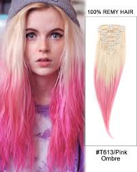 pink hair extensions 18 7pcs 4 medium brown wave 100 human hair clip in hair