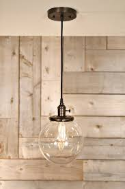 Clear Globe Pendant Light Lucent Lworks Clear Glass Globe Pendant Fixture 8 Inch