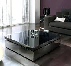 contemporary square glass coffee table contemporary cocktail table modern two tone glass coffee table