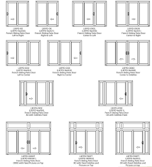 Triple Patio Doors by Home Design Sliding French Doors Patio Countertops Interior