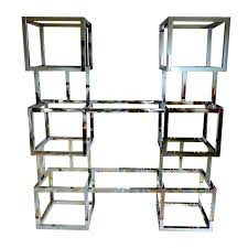 Chrome And Glass Etagere Furniture Storage Storage And Glass