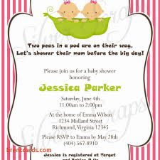 two peas in their pod dual baby shower invitations free card design ideas