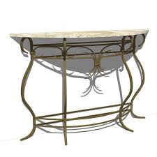 Wrought Iron Console Table Wrought Iron Console Table 3d Model Formfonts 3d Models Textures