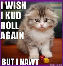 funny cat can t even roll dice with those paws cat memes