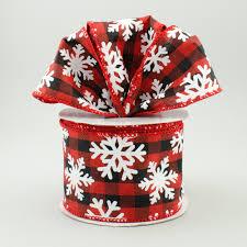 and black plaid ribbon 2 5 snowflake black plaid ribbon 10 yards rt16 172