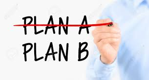 business plan strategy changing businessman crossing over plan