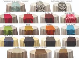 linen rentals table runners