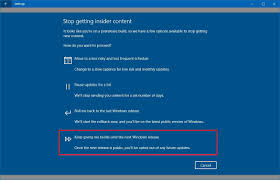 why insiders should opt out of the program when windows 10 fall