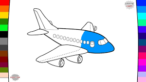 airplane coloring page name and sound learning vehicle for