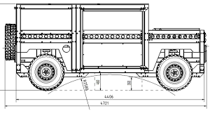 humvee drawing partisan one military suv puts simplicity above looking good