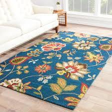 dahlia handmade floral blue multicolor area rug 5 u0027 x 8 u0027 free